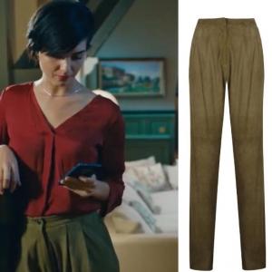 Cesur ve güzel 6 bölüm dizi kıyafetleri sühanın toprak rengi taba pantolon markası ve bordo bluz markası