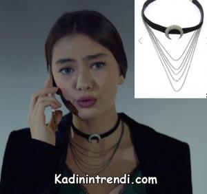 Kara sevda 47 bölüm nihan hilal şekilli kolye markası