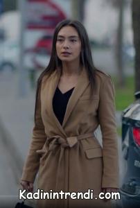 Kara sevda 47 bölümNihan Toprak rengi palto kaban