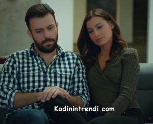 Kiralık aşk kıyafetleri seda V yaka haki kazak ve sinan siyah beyaz kareli gömlek markası