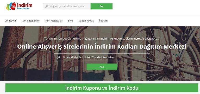 Türkiye'nin En kapsamlı İndirim kodu / kuponu sitesi Arayüzünü yeniledi