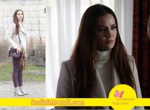 lene Kadar Selvinin Beyaz kazak beyaz kaşe kombini ve markaları