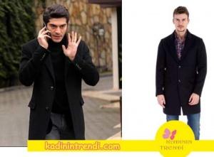 Aşk Laftan Anlamaz 28 Bölüm Kıyafetleri Murat'ın siyah kaban markası Kigili