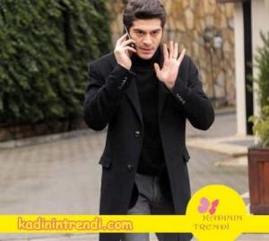 Aşk Laftan Anlamaz 28 bölüm kıyafetleri Muratın siyah kabanı muratın siyah boğazlı kazağı ve gri jean pantolonu hangi marka