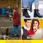 Hayat'ın giydiği kahve rengi taba topuklu ayakkabı iloveshoes