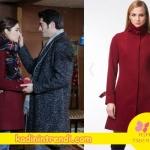 Aşk-Laftan-Anlamaz-Hayatın-giydiği bordo kabanın markası web sitemizde