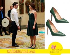 Aşk Laftan Anlamaz Hayat'ın giydiği yeşil ayakkabılar İnci Deriden