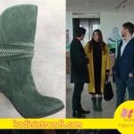 Aşk Laftan Anlamaz 25. bölüm kıyafetleri, Hayat'ın giydiği yeşil botların markası I love Sohes