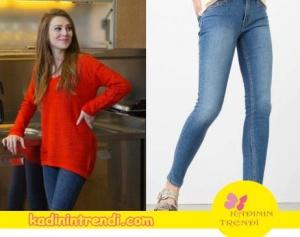 Defnenın giydiği kot pantolon markası Mango