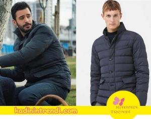 Ömer'in giydiği mont markası Mango.