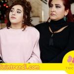 No 309 dizi kıyafetleri 28 bölüm de Filizin giydiği pudra lacivert elbisenin markası