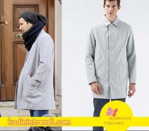 No 309 dizisi 32. Bölüm Kıyafetleri Onur'un giydiği gri kaban markası Lacoste.