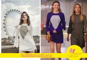 Paramparça dizi kıyafetleri Hazal'ın elbisesi Sema Gürışık marka .