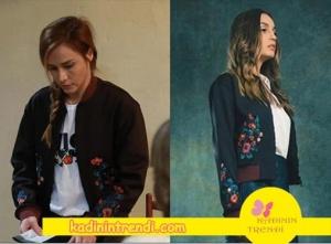 Poyraz Karayel Dizisinin 76. bölümünde Ayşegül karakterinin giydiği ceket markası Pinko