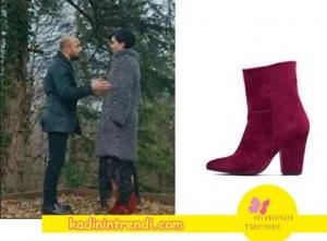 Cesur ve Güzel Sühan kırmızı botlarının markası I Love Shoes