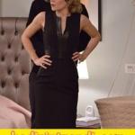 hayat-şarkısı- dizisinde hülyanın siyah deri detaylı elbisesi Network marka