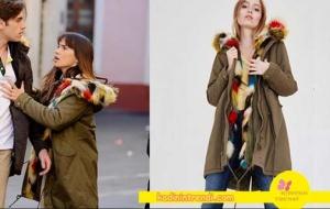 Adı-Efsane-1-bölüm-dizi-kıyafetleri Melisönü renkli püskülleri olan haki mont markası Oxxo