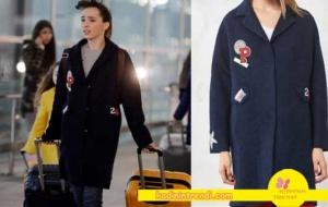Adı-Efsane-2-bölüm-kıyafetleri- Melis emoji kaban markası Trendyol Milla
