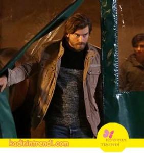 Cesur ve Güzel 12.bölüm kıyafetleri Cesur bej mont,gri siyah kırçıllı kazak ve jean pantolon