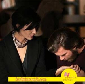 Cesur ve Güzel 13 bölüm dizi kıyafetleri Sühanın giydiği siyah uzun kaban