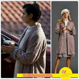 • Cesur ve güzel dizi kıyafetleri 15 bölüm Sühan'ın pembe kabanı Vekem marka