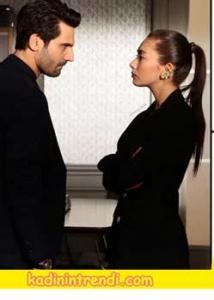 Kara sevda 54 Bölüm Dizi Kıyafetleri Nihan'ın Siyah ceket kombini.