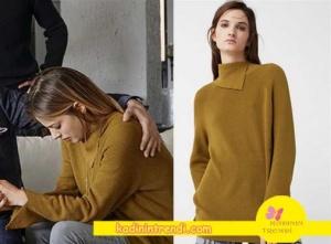 Paramparça-89-Bölüm-kıyafetleri-Cansu hardal kazak markası Mango