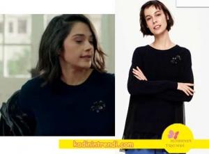 Poyraz-karayel-80-Bölüm-kıyafetleri Eda-siyah-kazağı