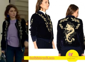 Poyraz-karayel-80-Bölüm-kıyafetleriPoyraz-Karayel-Dizisinin-80.-bölümünde-Songül-karakterinin-giydiği-işlemeli-ceketi--Boyner-markadır