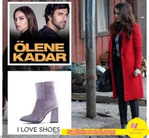Ölene Kadar 9 bölüm kıyafetleri Selvi'nin giydiği çizmeler I love Shoes marka.