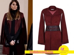 Adı Efsane Seçil Kıyafetleri Seçil bordo ceket markası Ceren Ocak