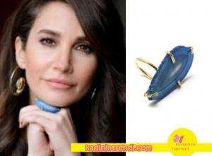 Adı Efsane Seçil mavi taşlı yüzük markası Atelier Petites Pierres.