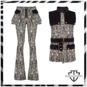 Cesur ve Güzel Tuba Büyüküstün siyah beyaz yelek ve ispanyol paca pantolon Takımı Raissa Vanessa marka