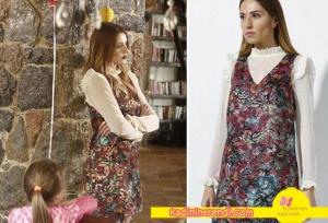 Elif karakterinin giydiği çiçek desenli elbise Ayca Aner markasıdır.