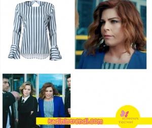 Hayat Şarkısı 39 45 Bölüm kıyafetleri Zeynepçizgili ispanyol kol bluzu on Fasion