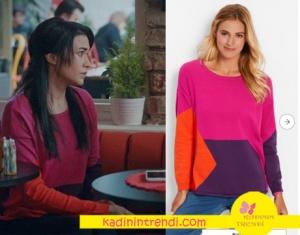 Hayat Şarkısı Melek Karakterinin Pembe mor turuncu trikosu Bonprix marka