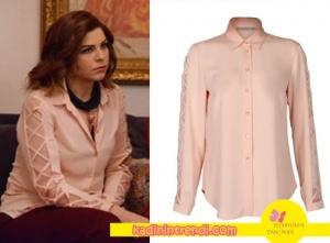Hayat Şarkısı Zeynep Kıyafetleri Zeynep Transparan Kol Detaylı Gömlek EKOL den