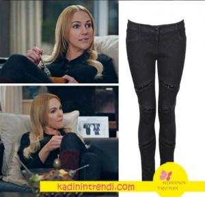 Meryem Üzerli Suzi Siyah Pantolon markası Fi Ekolde satılmaktadır