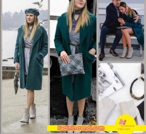 Paramparça 94 bölüm kıyafetleri Hazalın petrol rengi kabanı ile kombine ettiği gri kısa çizmeleri Shoes House markadır.