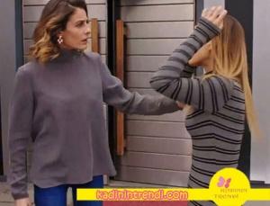 Paramparça dilara gri uzun kollu Bluzu H6 By Hazal Ozman Marka Cansu çizgili bluz markası bilinmemekte