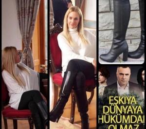 Suzi karakterinin Siyah Çizmesi Shoes House Marka.