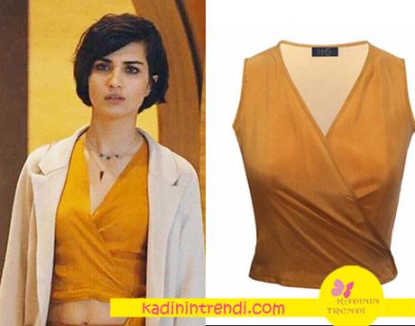 cesur ve güzel sühan sarı bluz By Hazal Ozman