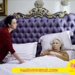 İstanbullu Gelin Esma Hanımın yatak odası villa pamir Nevresim ve Yatak örtüsü nazsu tekstil