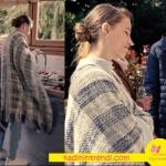 Fi dizisi 4. bölümde Serenay Sarıkaya'nın giydiği kareli şal hırkası