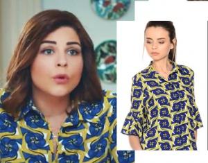 Hayat Şarkısı 48 bölüm Hülya mavi çiçekli gömlek Boyner den