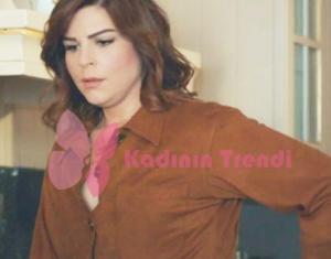 Hayat Şarkısı 51 bölüm Zeynep kahve rengi gömlek Ekol marka