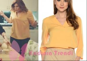 Hayat şarkısı Zeynep sarı bluz Naramaxx markadır