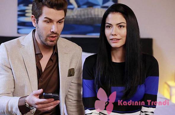 No 309 Onur krem rengi ceket kahve rengi gömlek kombin Kiğılı Lale çizgili kazak markası araştırılıyor
