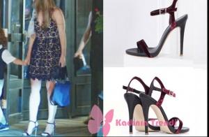 Dolunay 2. bölümde Nazlı'nın giydiği bordo topuklu ayakkabılar İlvi marka.