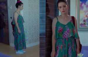 Nazlı yeşil elbise zara marka
